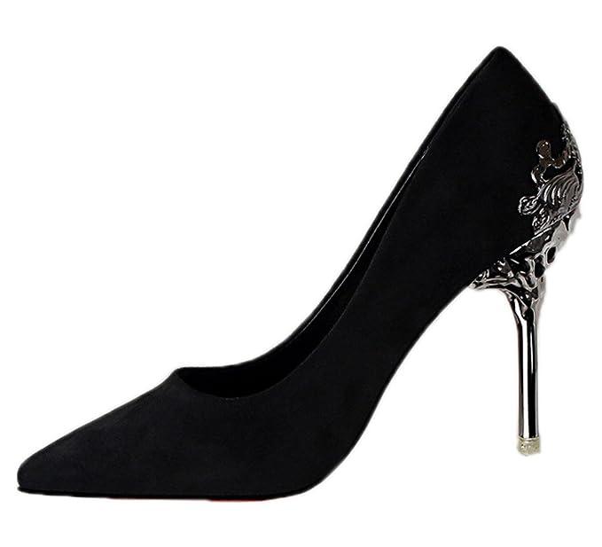 Minetom Mujer Elegante Tacón Alto Zapatos Apuntado Zapatos Boda Fiesta  Zapatos  Amazon.es  Ropa y accesorios 6f68cf305e11
