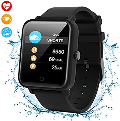 Smartwatch Inteligente,IP67 Impermeable Reloj Deportivo Multifunciones Pulsera Actividad con Podómetro/Frecuencia Cardíaca/Cronómetro/Caloría/Monitor ...