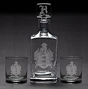 Amazon Com Family Crest Decanter Set Decanter And Two