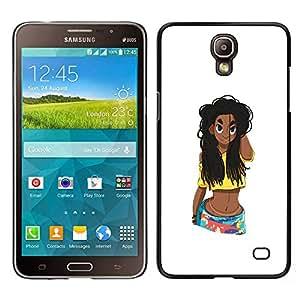 iKiki Tech / Estuche rígido - Rica Chica Mujer polluelo - Samsung Galaxy Mega 2