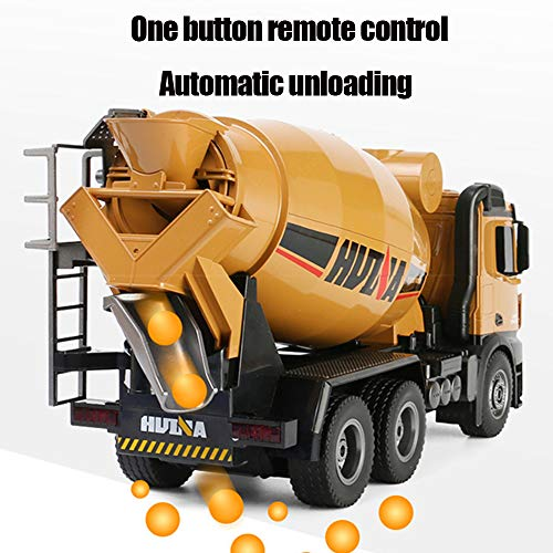 ANDE 10-Channel 2.4G Remote Control Concrete Mixer Truck,Construction Grapple Fork Tractor Metal Fork