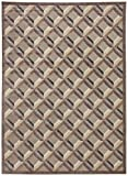 Rivet Motion Grid Pop Rug, 7'9'' x 10'10'', Stone