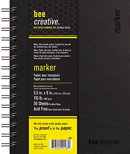 Bee Paper Company BEE-20001 Creative Marker Book, 5-1/2'' x 8'' by Bee Paper Company
