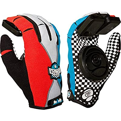 Sector 9 Rally Slide Gloves Youth S/M [Blue/Grey/Black] : Sports & Outdoors