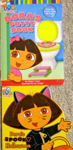 Two Dora Board Books (Dora's Potty Book; Dora's Spooky Halloween)]()