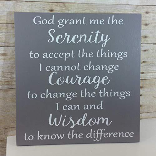 Serenity Prayer Handmade Wood Sign - Inspirational, Recovery, Spiritual Art - Encouragement Gift