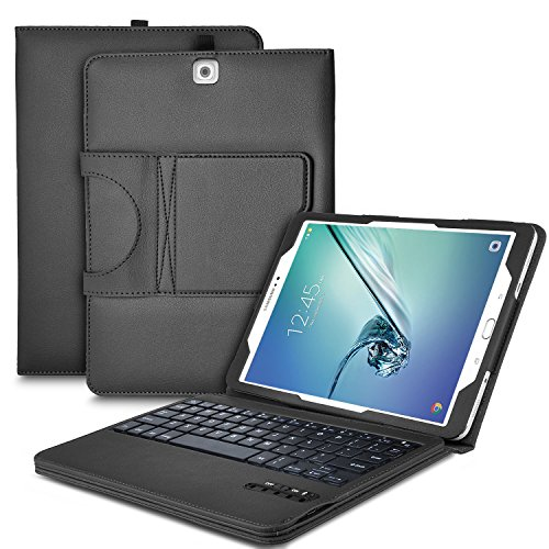 IVSO Samsung Galaxy Tab S2 9.7 Keyboard case - Ultra-Thin Detachable Wireless Keyboard Stand Case/Cover for Samsung Galaxy Tab S2 9.7 Tablet -with Free Stylus Pen (Black)