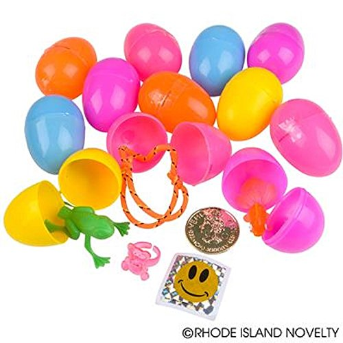 Toy Filled Easter Eggs - 500 eggs ~ Prepacked by Rhode Island Novelty