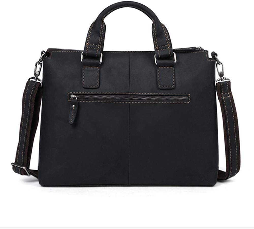 Water Resisatant Business Messenger Briefcases for Men and Women Fits 14 Inch L Large Hybrid Shoulder Bag Travel Briefcase with Card Organizer Business Briefcase Multi-Functional Leather Laptop Bag