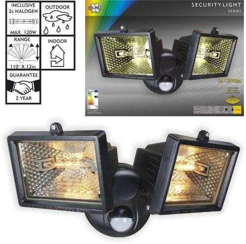 Smartwares ES120/2 - Luz de seguridad, luces dobles, sensor de movimiento, halógena, 2250 lm: Amazon.es: Iluminación