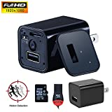 , YOUYOUTE 2017 Version 32GB Motion Detection HD 1080P Spy Camera USB Wall Charger Mini US AC Adapter Plug Nanny Cam Hidden USB Camcorder Two Ways Recording Mode NO Pinhole UX-8