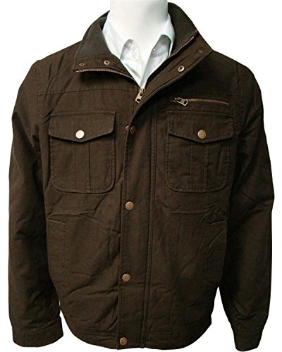 China Leather Victory Rugged Wear Men's Olive Cotton Twill Sherpa Lined Jacket Olive X-Large