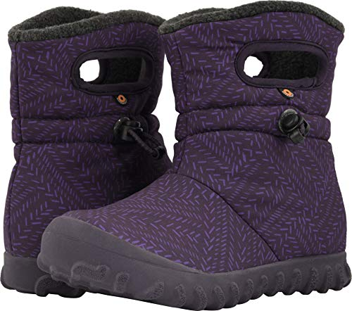 Price comparison product image Bogs Baby B-Moc Waterproof Insulated Kids / Toddler Winter Boot,  Fleck Print / Eggplant / Multi,  9 M US
