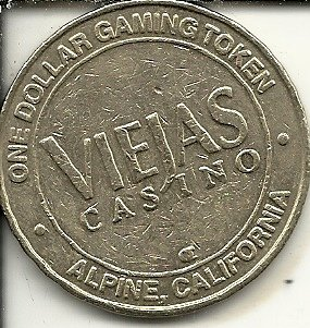 $1 viejas casino token gaming coin alpine california - Viejas Alpine