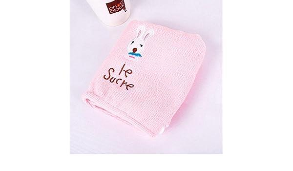ZHUOTOP - Toalla de baño de microfibra suave con dibujos animados para secar el pelo, herramienta de secado rápido: Amazon.es: Hogar