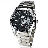 Winner automático relojes mecánicos hombres Señores Calendario Día Auto Fecha de acero inoxidable marca de lujo de los hombres relojes, 1#