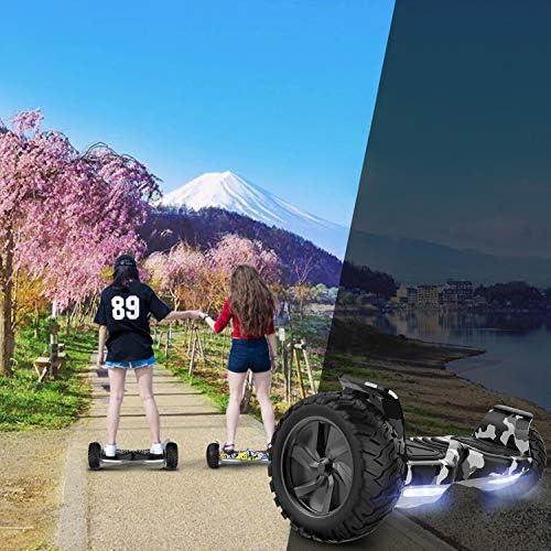 COLORWAY Overboard SUV 8.5 Pouces, Hover Scooter Board Gyropode Tout-Terrain 700W, Fonction App, Bluetooth et LED, Scooter Électrique Auto-équilibrage pour Enfant et Adult