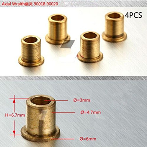 (4Pcs Steering Front Knuckles Flange Brass Bushing for Axial SCX10 RC Car #1140)