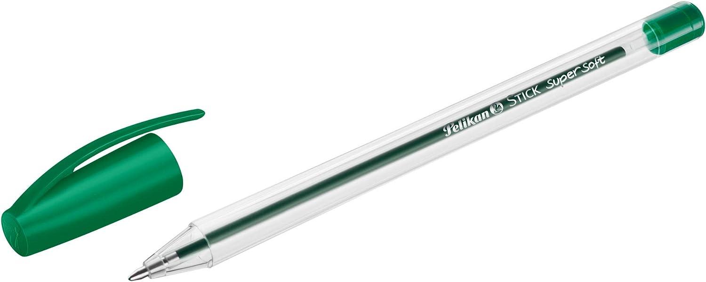 Tinta supersuave. 12 bol/ígrafos Stick Supersoft Ass negro//azul//rojo//verde