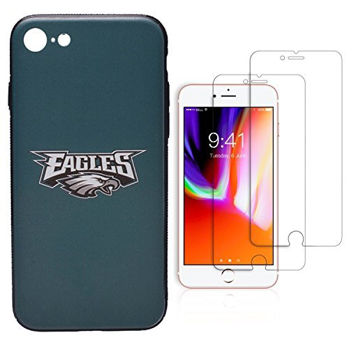 "ase for iPhone 7/iPhone 8 (4.7""), Give 2 Premium Screen Protectors Extra Value Set (Philadelphia Eagles) ()"