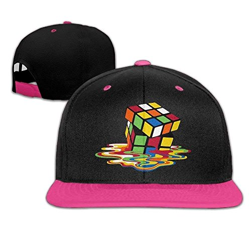 WCMBY Personality Caps Hats Unisex Rubiks Cube Melting Cube Bing Bang Theory Cotton Snapback Hip Hop Flat Tongue Hats Adjustable Baseball Caps for Outdr - Cubs Chicago Baseball Cube