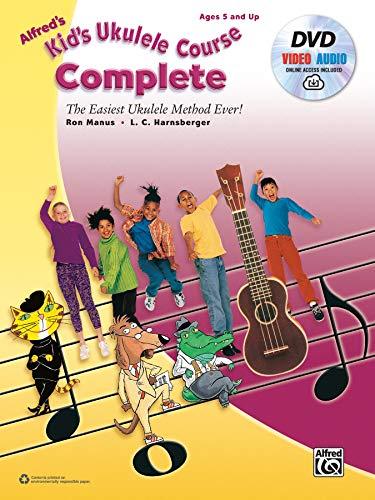 Alfred's Kid's Ukulele Course Complete: The Easiest Ukulele Method Ever!, Book, DVD & Online ()