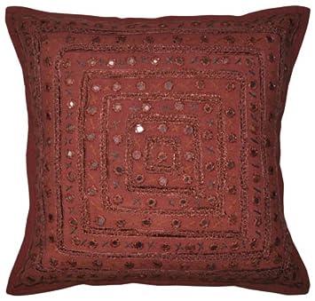 Superb Nandnandini Textile Indischen Spiegel Uberwurf Kissenbezug Ncnpc Chair Design For Home Ncnpcorg