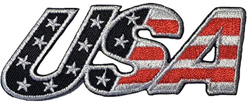 Ranger Return USA American Alphabet US Flag Sew on Iron on Applique Embroidered Emblem Badge Patch Black (Iron-USA-Alphabet-Black)