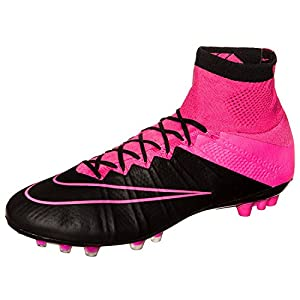 NIKE MERCURIAL SUPERFLY LTHR AG-R (FIRM-GROUND SOCCER CLEATS) (12, Pink/Black)