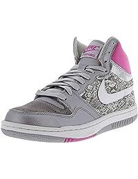 Nike Women's Court Force Hi Metallic Silver/White - Pink Fire Ankle-High Basketball Shoe 12M
