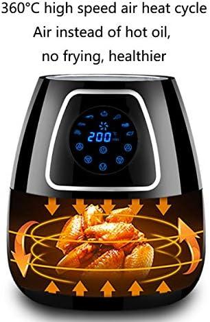 NANXCYR Freidora de Aire Sartén eléctrica más Saludable/sin Aceite/Baja en Grasa Hogar sin Humo Máquina de Papas Fritas Gran Capacidad Pantalla táctil Inteligente Inicio - 2.8 L