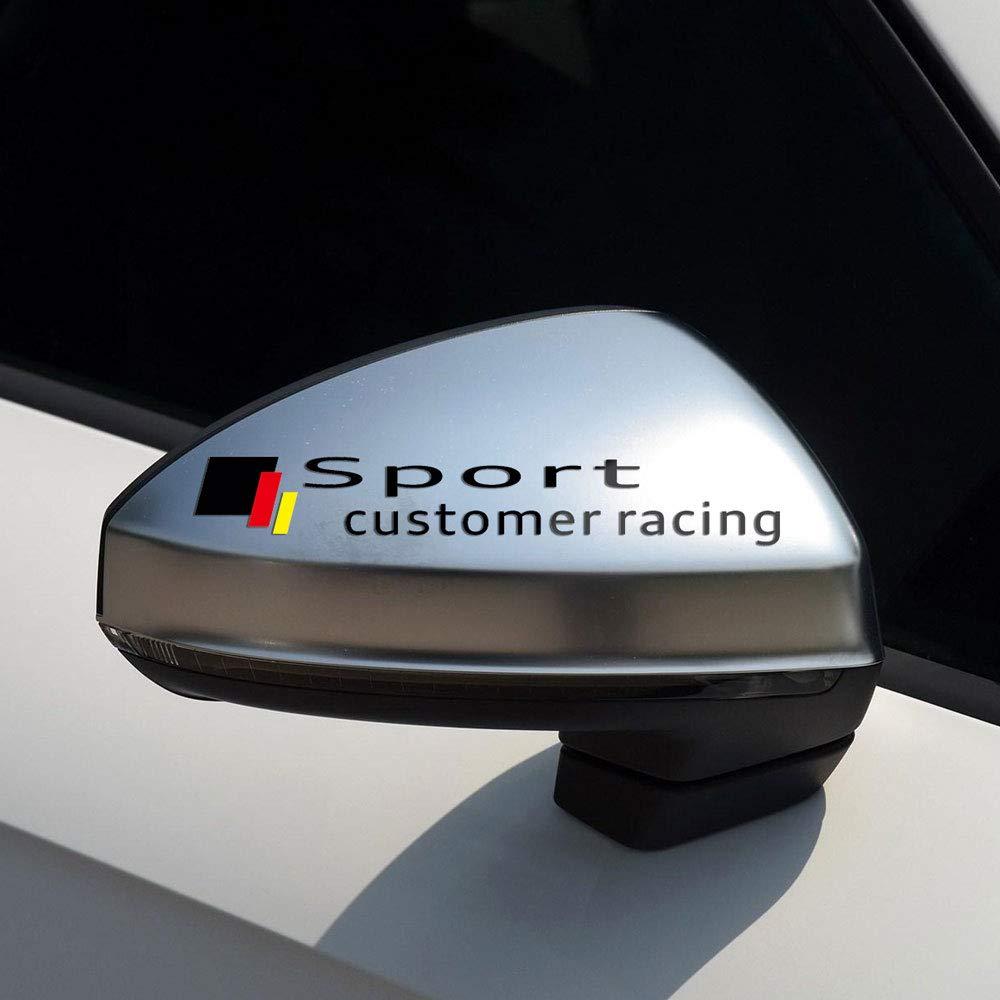 Negro DSYCAR 1 par Deporte Cliente Carreras Coche Espejo retrovisor Pegatina calcoman/ía Vinilo Pegatina calcoman/ía Raya Pegatina para Audi A6 A7 A8