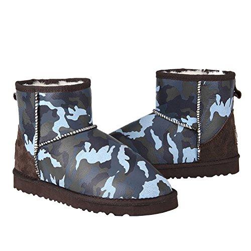 de Nieve para Zapatos Antideslizantes DV5854 Mujer Botas Azul Invierno Shenduo ZCP4tTxq1w
