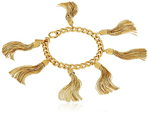 Boho-Chic Vacation & Fall Looks - Standard & Plus Size Styless - Rachel Zoe Jewelry Hazel Tassel Fringe Bracelet