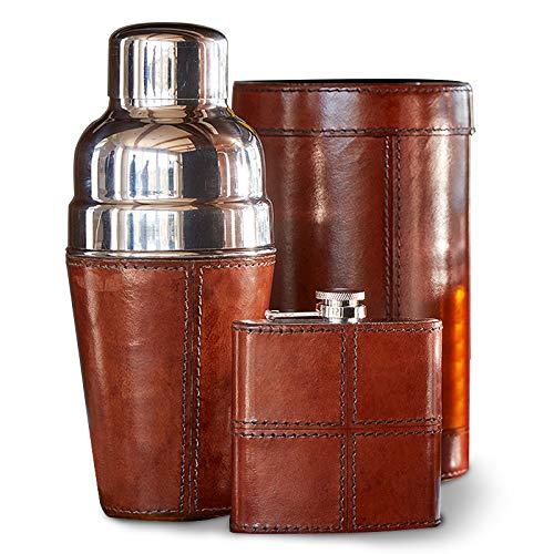 IWA Leather Barware Set Brown #27177