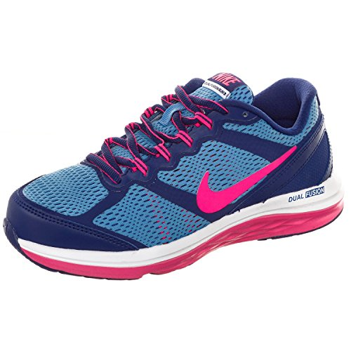 Nike Kids Fusion - Nike Dual Fusion Run 3 Girls Running Shoes Deep Royal Blue/University Blue/White/Hyper Pink 6
