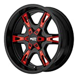 #10: Moto Metal MO969 Satin Black Wheel With Red And Chrome Accents (18x9