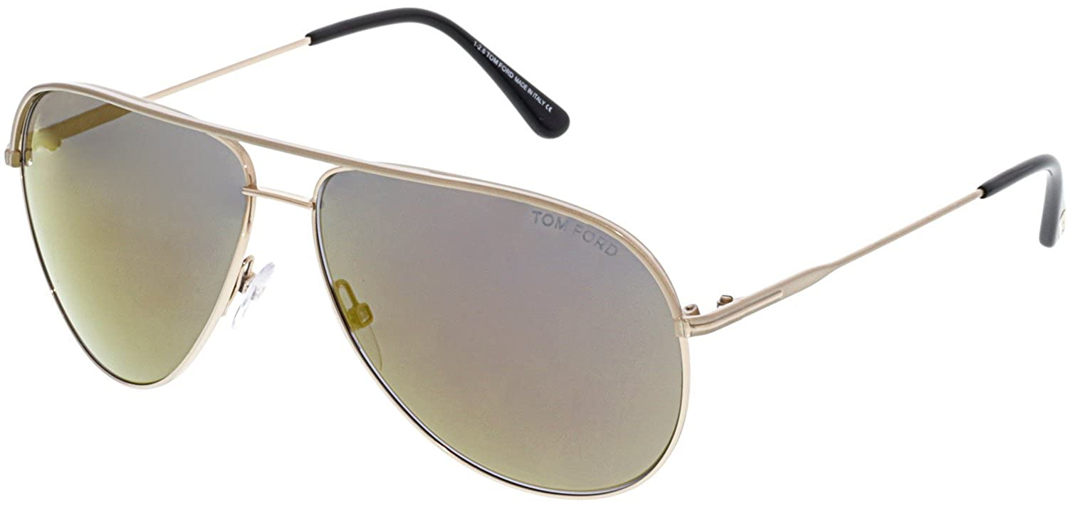 Sunglasses Tom Ford FT 0466 29C Gold//Flash Yellow Brown