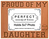 Cheap ThisWear Baseball Dad Mom Gift Proud My Daughter Natural Wood Engraved 5×7 Landscape Picture Frame Wood