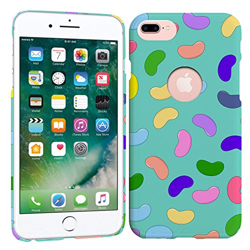 iPhone 7 Plus Case / iPhone 8 Plus Case - Jelly bean Hard Plastic Back Cover. Slim Profile Cute Printed Designer Snap on Case by Glisten (Bean Crafts Jelly)