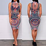 Usstore-Women-Mesh-Back-Club-Evening-Party-Bodycon-print-Dresses