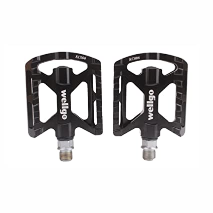 "1 Pair Bicycle Bike Platform Pedals Aluminum Alloy Sealed Bearing 9//16/"" Threads"