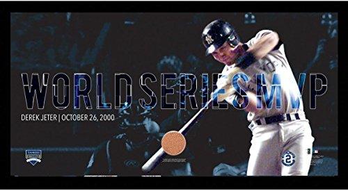 (MLB New York Yankees Derek Jeter Moments: World Series MVP Collage Text Overlay Framed 9.5x19 7331 Style)