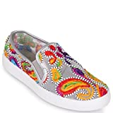 Wanted ''Renoir'' Embroidery Slip On Fashion Sneaker - (Silver, 7)