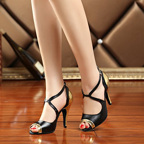 Miyoopark , Salle de bal femme - or - Black/Gold-10cm heel, 37 1/3