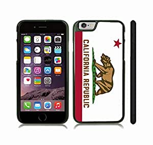 iStar Cases? iPhone 6 Plus Case with California Republic Flag, California Golden Bear Design , Snap-on Cover, Hard Carrying Case ( Black)