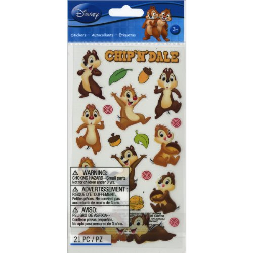 (Disney Classic Flat Stickers, Chip N Dale)
