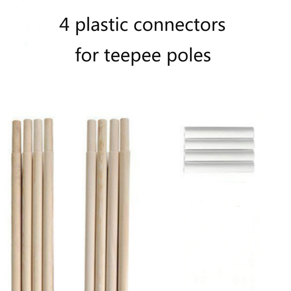 HAN-MM Plastic Connectors for Teepee Poles 4 Set