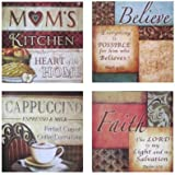 Urbanest Inspirational Framed Wall Plaque Decor, Set of 4 (Mom's Believe)