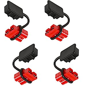 OrionMotorTech 4 Pcs 2-4 Gauge 175A Battery Cable Quick Connect Disconnect Plug Kit Recovery Winch Trailer | 12-36V DC (4 Pcs)